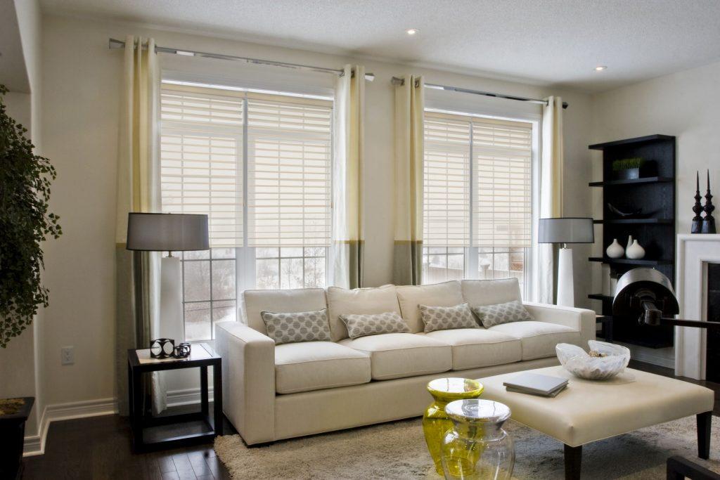 sheer shades living room ideas 2
