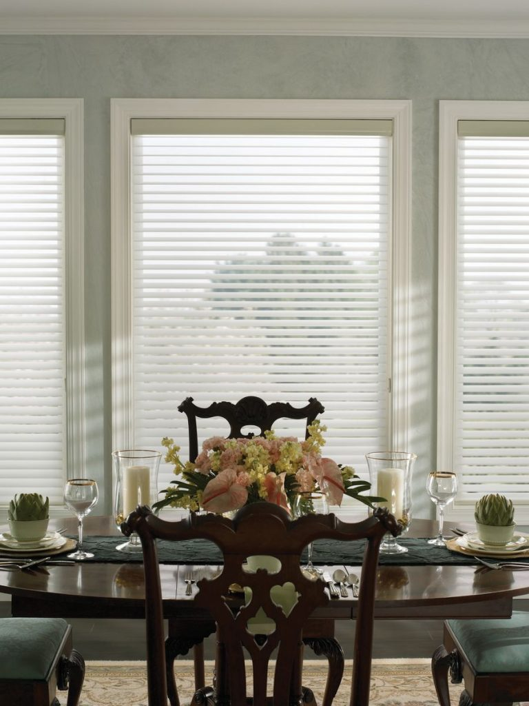 sheer shades dining room 2