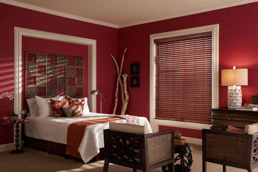 wood blinds ideas bedroom