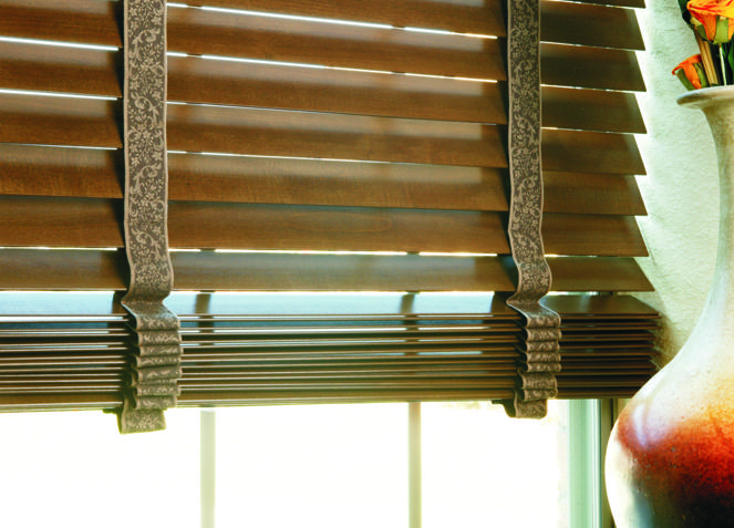 wood blinds ideas cloth straps