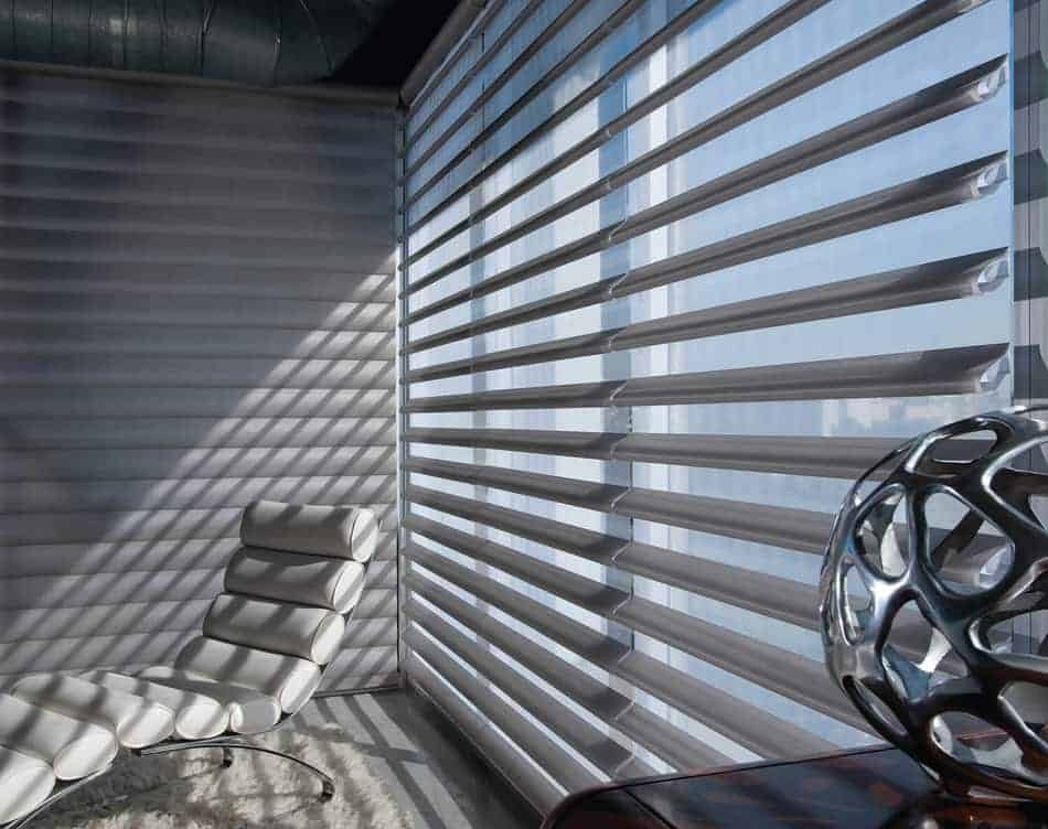 Window with window treatment Pirouette window shadings