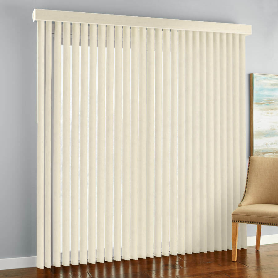 vertical blinds with a chait on the side