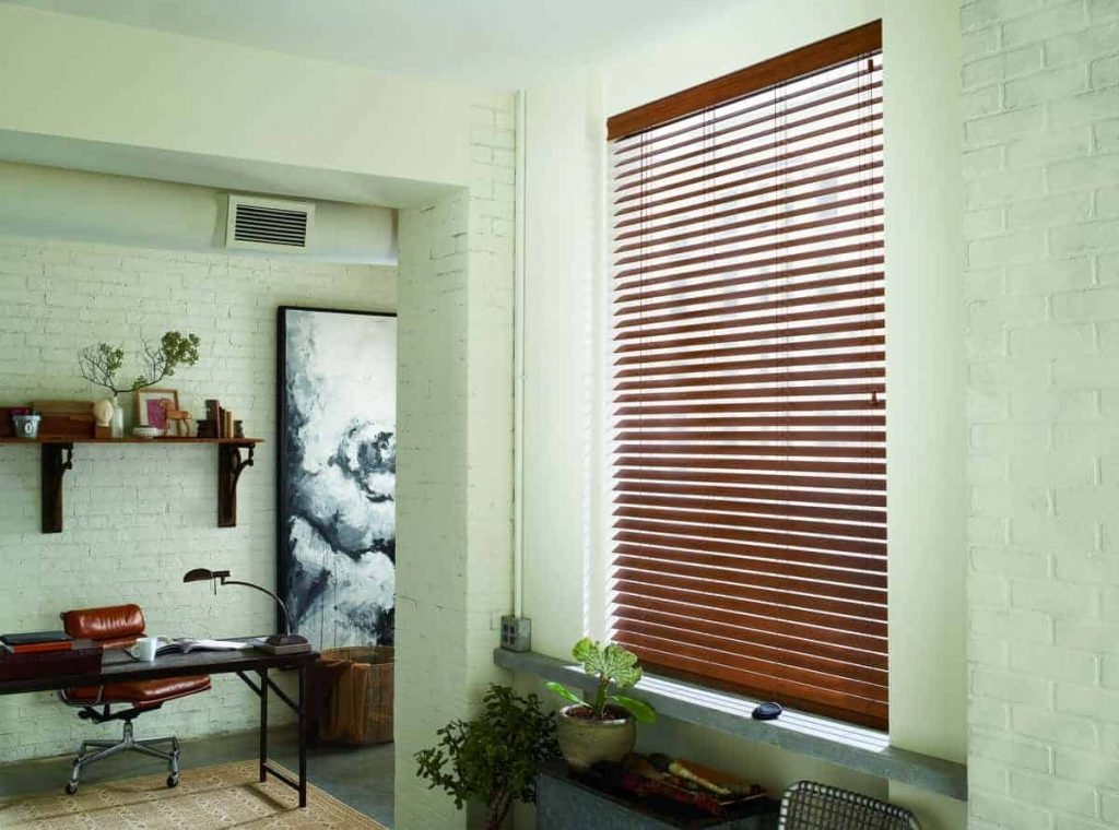faux-wood blind