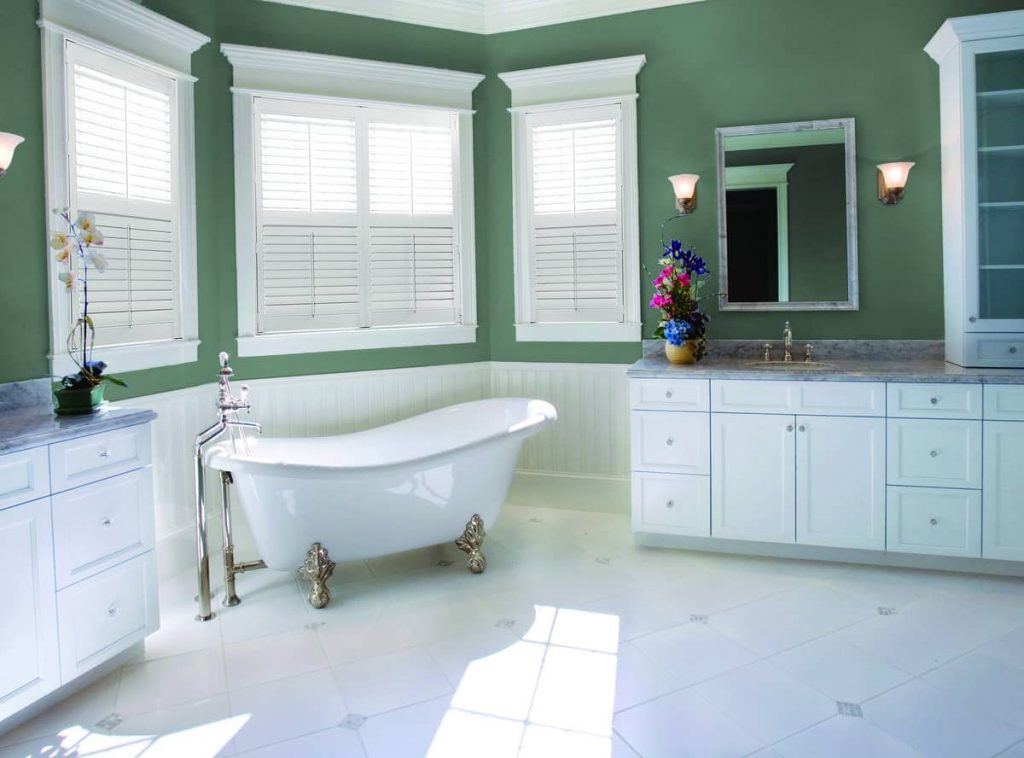 shutters installed in a bathroom