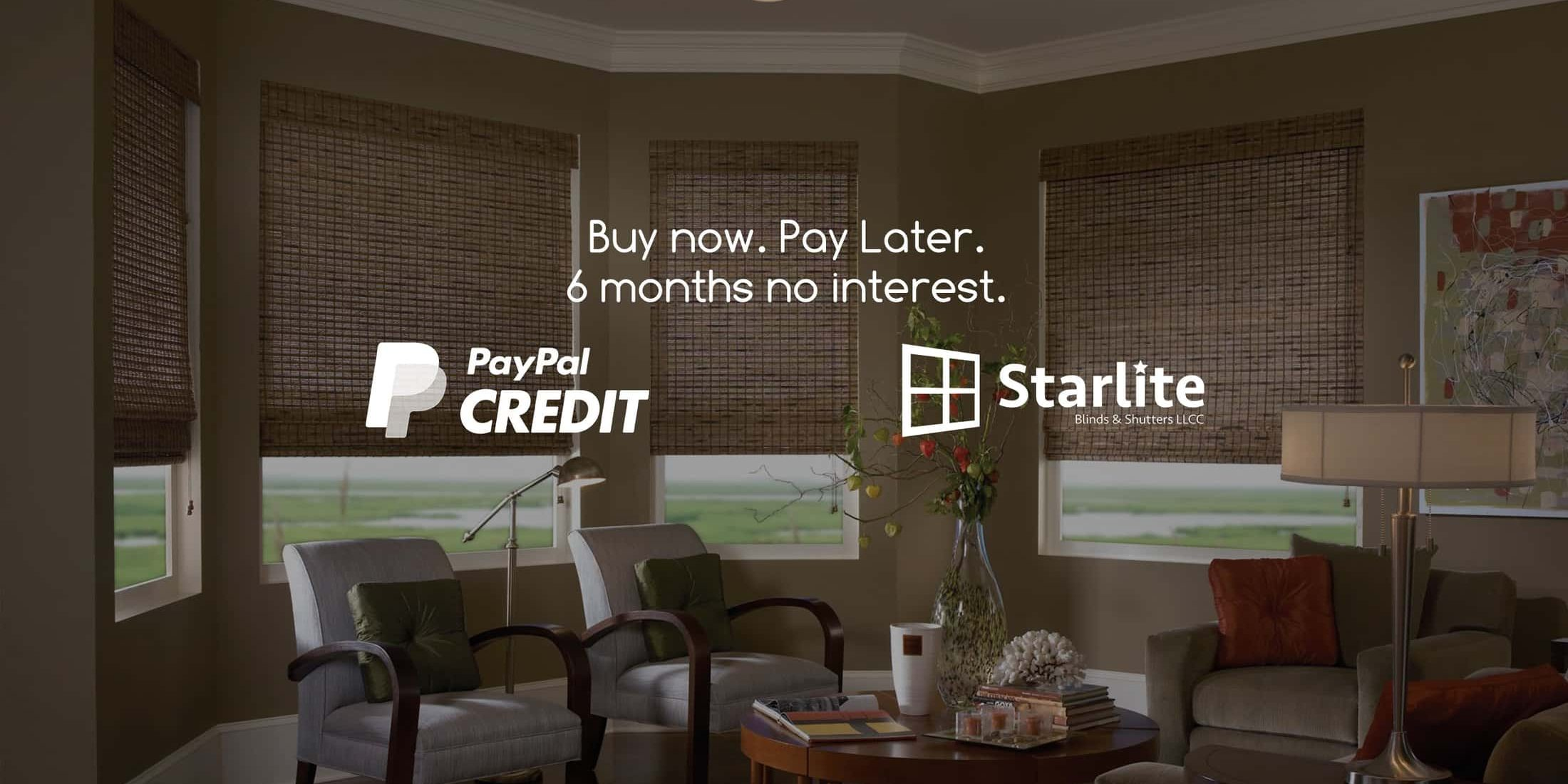blog cover PayPal Credit | Starlite Blinds and Shutters